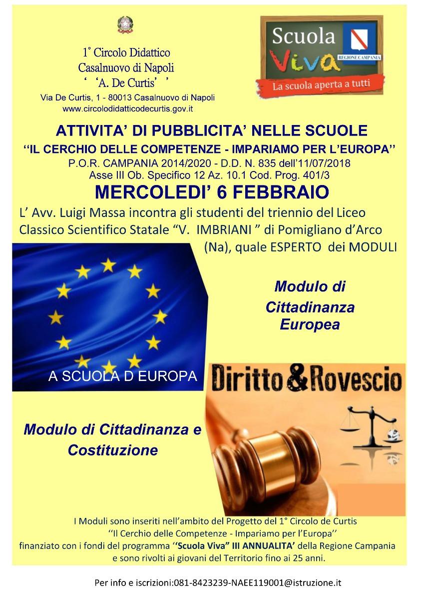 AZIONE DI PUBBLICIZZAZIONE SCUOLA VIVA III ANNUALITA'