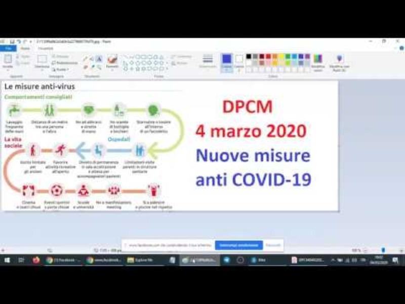 DPCM 4 MARZO 2020