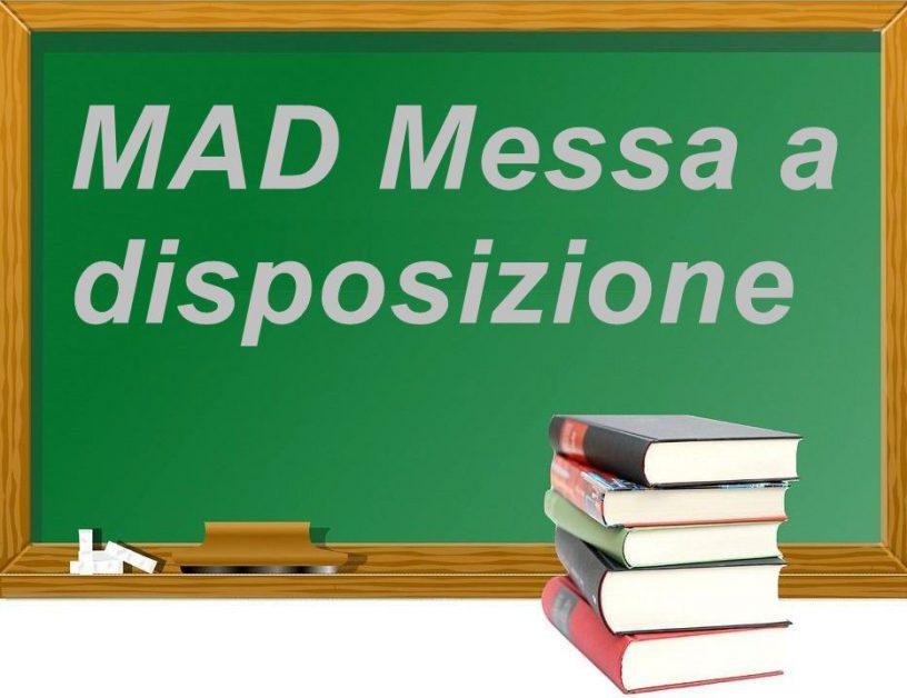 Tempistica per la presentazione delle domande di messa a disposizione (MAD) per eventuale stipula di