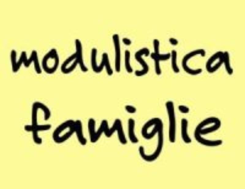 MODULISTICA - FAMIGLIE
