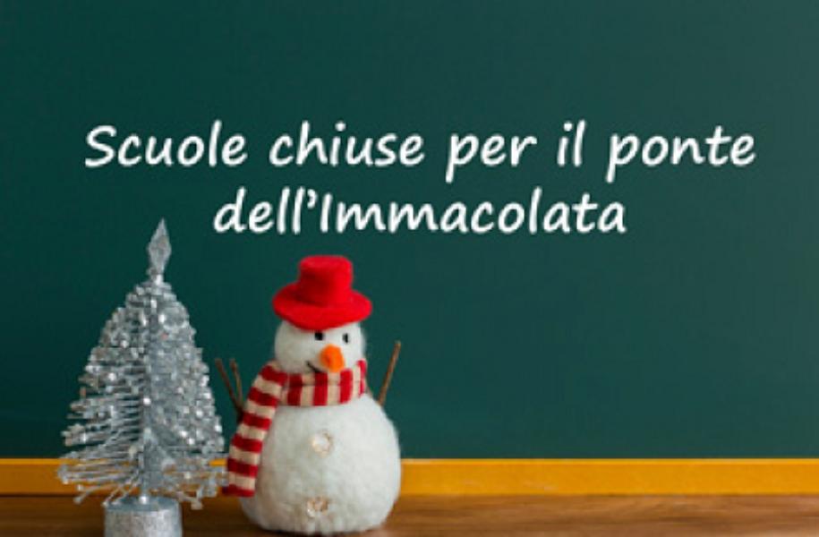 Ponte dell'Immacolata 7 dicembre 2020 - Sospensione attività didattiche e chiusura scuola.
