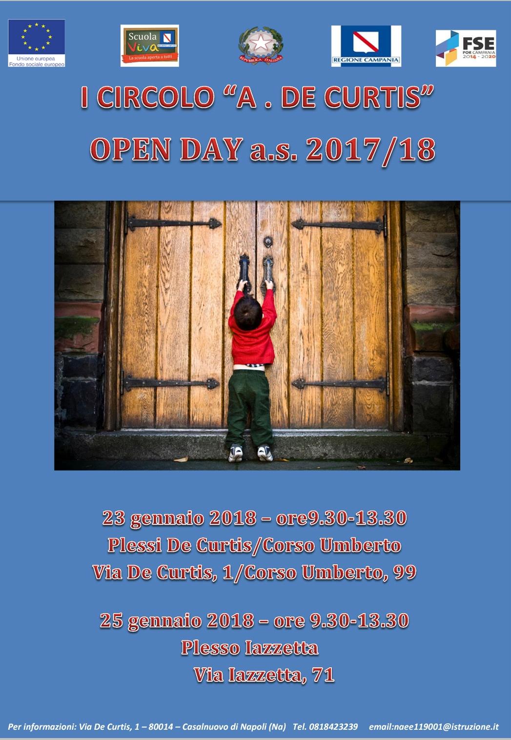 OPEN DAY 23 E 25